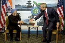 Indian PM,Manmon singh & USA President,George bush