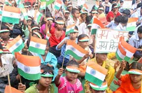 Govt. Model Senior Secondary School, 35-D, Chandigarh, celebrated Independence Day in the school campus today (15-8-2008)