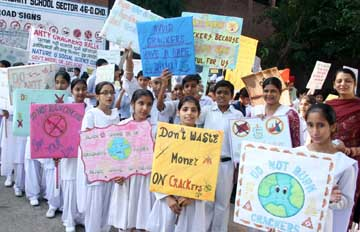 Anti Crackers Rally by Nature & Social Science Club GMSSS - Sector 46 Chandigarh