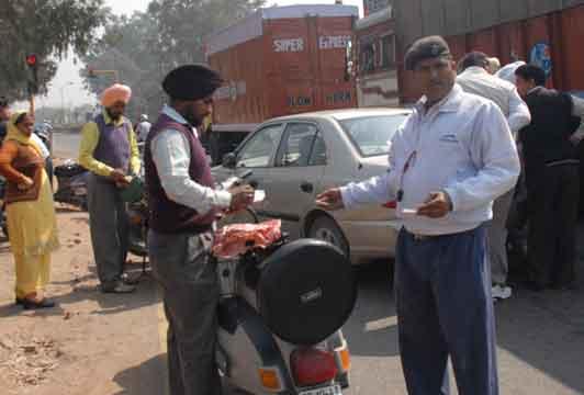 Special Challan drive at Panchkula.
