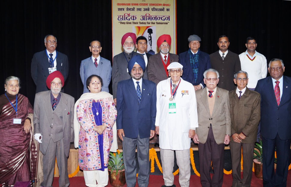 THE AWARDEES WITH ARMY COMMANDER (FOURTH FROM LEFT, FRONT ROW)