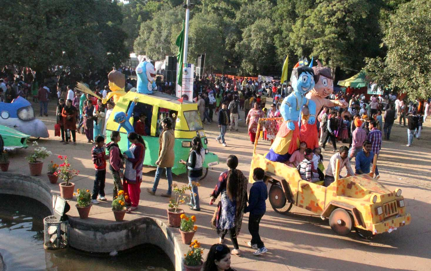 A view of Chandigarh Carnival-2014 at Leisure Valley, Sector-10, Chandigarh on Sunday, November 30, 2014.