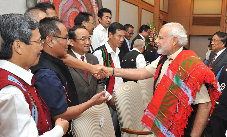 The Prime Minister, Shri Narendra Modi at the signing ceremony of historic peace accord between Government of India & NSCN, in New Delhi on August 03, 2015.