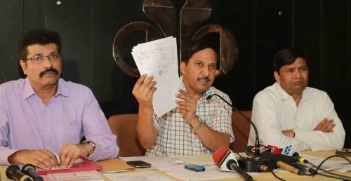 Dr. G P Thami, Dr. B.S. Chavan (centre), and Dr. Surinder Singhal while addressing press conference at Chandigarh Press Club