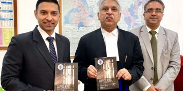 "Research report titled ""Clipped Wings - Impact of Incarceration on Family Members of Prisoners – An Exploratory Study."" released by Justice Jaswant Singh (center), Judge Punjab and Haryana High Court-cum-Executive Chairman, State Legal Services Authority, UT Chandigarh on Thursday at Sector 9, Chandigarh."