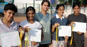 Carmel Convent, Sector 9, Chandigarh team won the girls under-19 team championship in North Zone I Tennis Championship in Chandigarh on Friday. .