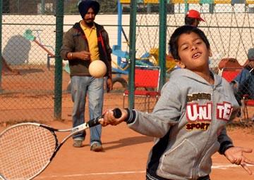 Sabrang during 4th Junior national Soft tennis Championship