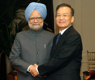 The Prime Minister, Dr. Manmohan Singh meeting with the Prime Minister of China, Mr. Wen Jiabao, during his visit to the United States, in New York on September 24, 2008.