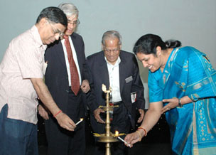 The Minister of State for Human Resource Development, Smt. D. Purandeswari inaugurating 'eINDIA 2008-Asia's Largest ICT Conference with focus on e-Governance & Digital Learning', in New Delhi on July 29, 2008.