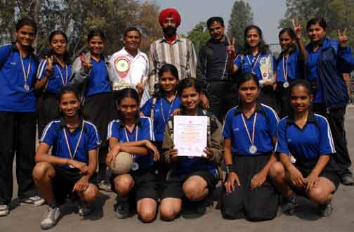 Team members of Maharastra who won the 2nd position in 2nd junior National Dodgeball championship