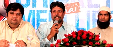 Himanshu Modi ,Mr.Kapil Dev and Mohd. Yousuf Khan adressing the ICL World series conference