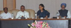 The Prime Minister, Dr. Manmohan Singh attends an All Party Meeting, in New Delhi on August 06, 2008. The Chairperson, UPA, Smt. Sonia Gandhi is also see